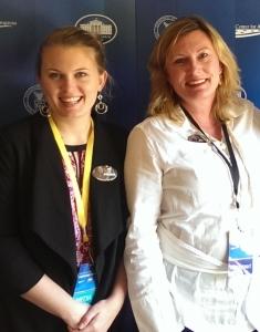 Ashley Maria and Lea-Ann Berst at White House Summit