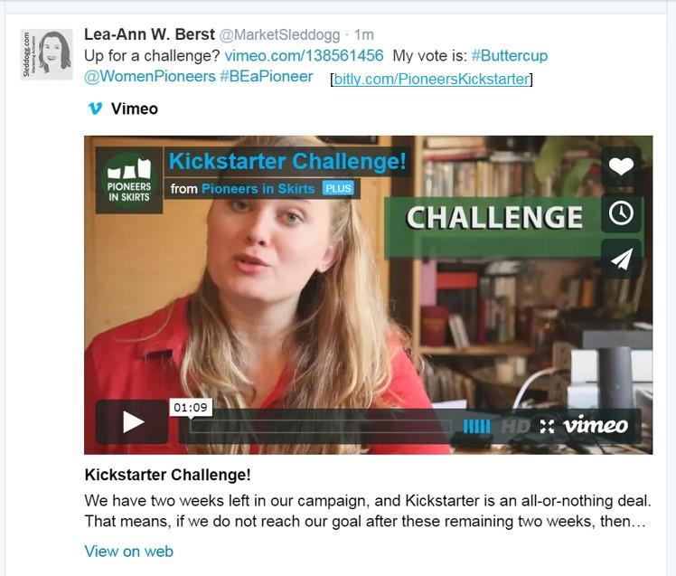 KS challenge tweet