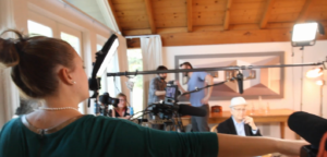 High res of Ashley Maria directing