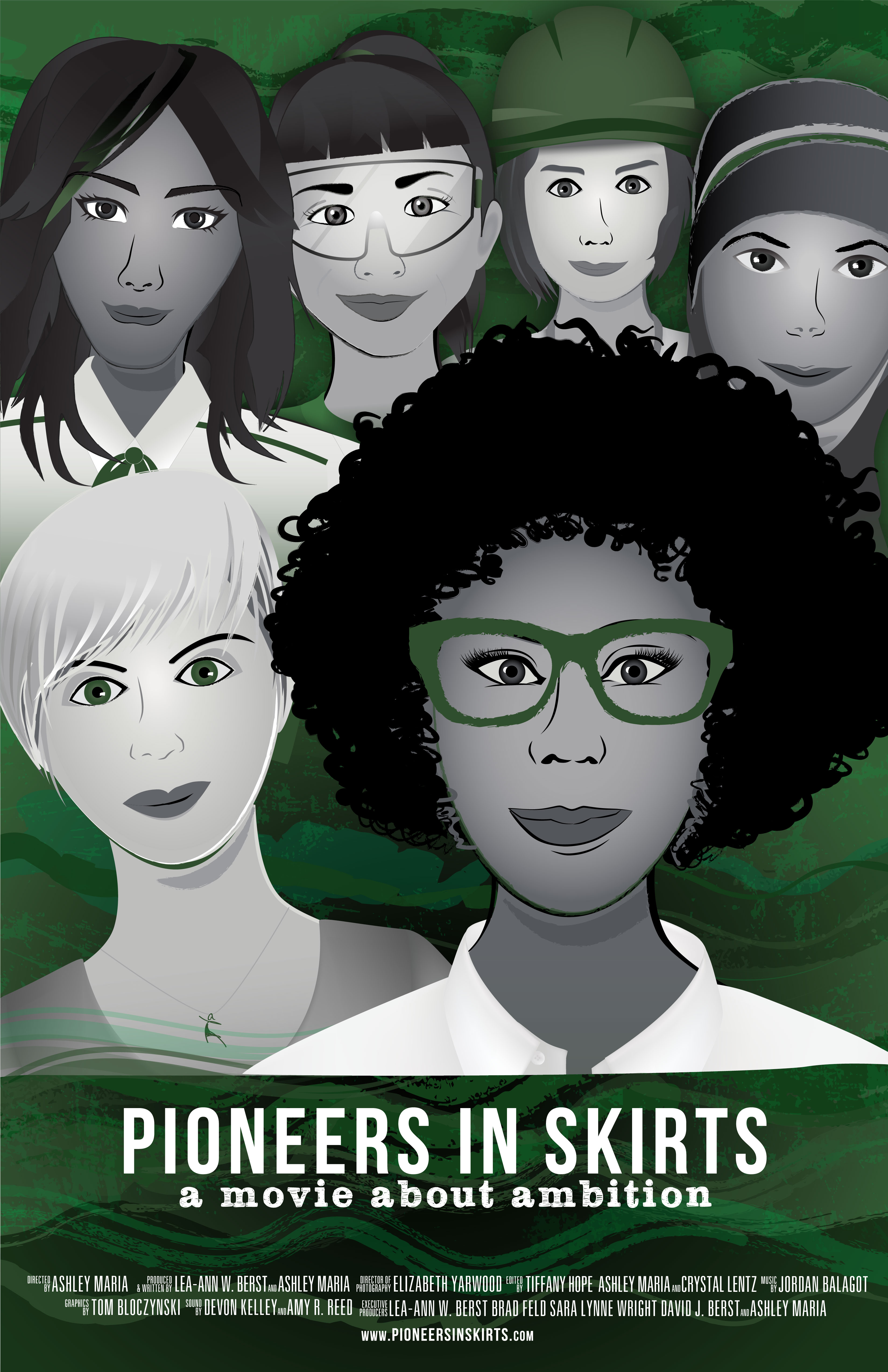 Pioneers in Skirts Movie Poster with Credits