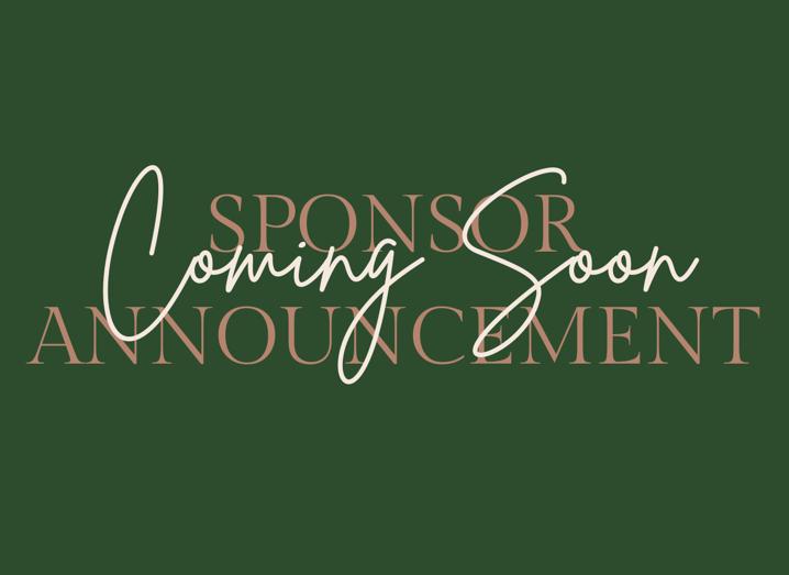 sponsor announcement coming soon